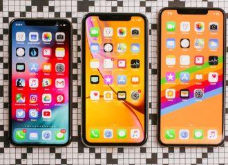 3 modèles d'iPhone différents